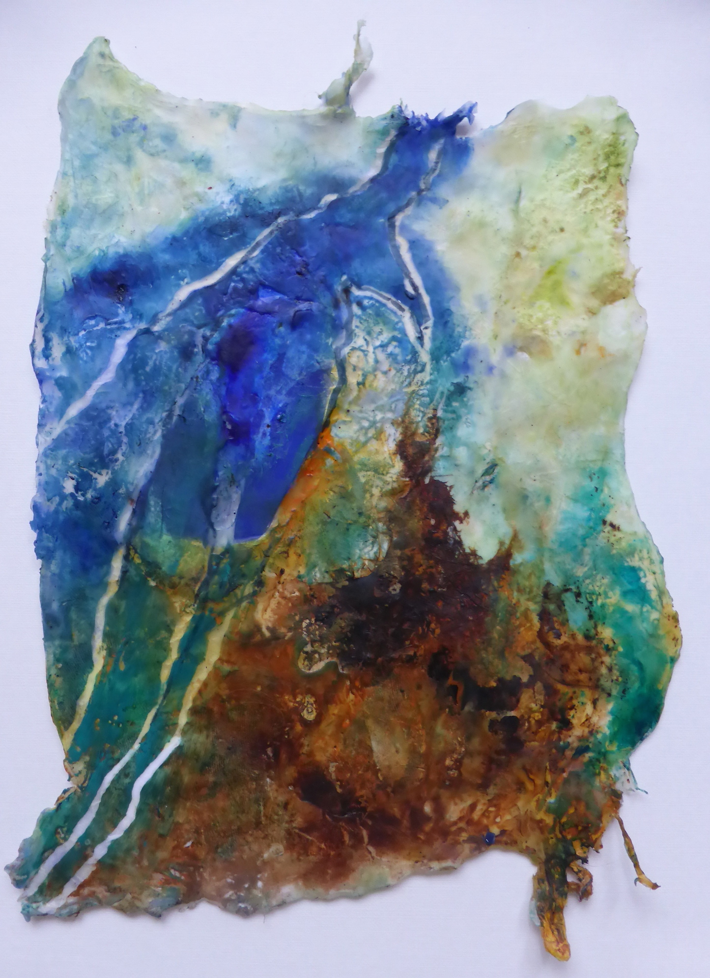 Mixed media met glas | 20x30