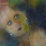 Portret 6 * Acryl, was en olie op linnen | 13x13