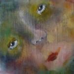 Portret 5 * Acryl, was en olie op linnen | 13x13