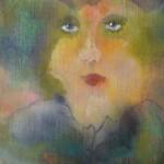 Portret 4 * Acryl, was en olie op linnen | 21x21