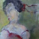 Portret 7 * Acryl, was en olie op linnen | 25x25