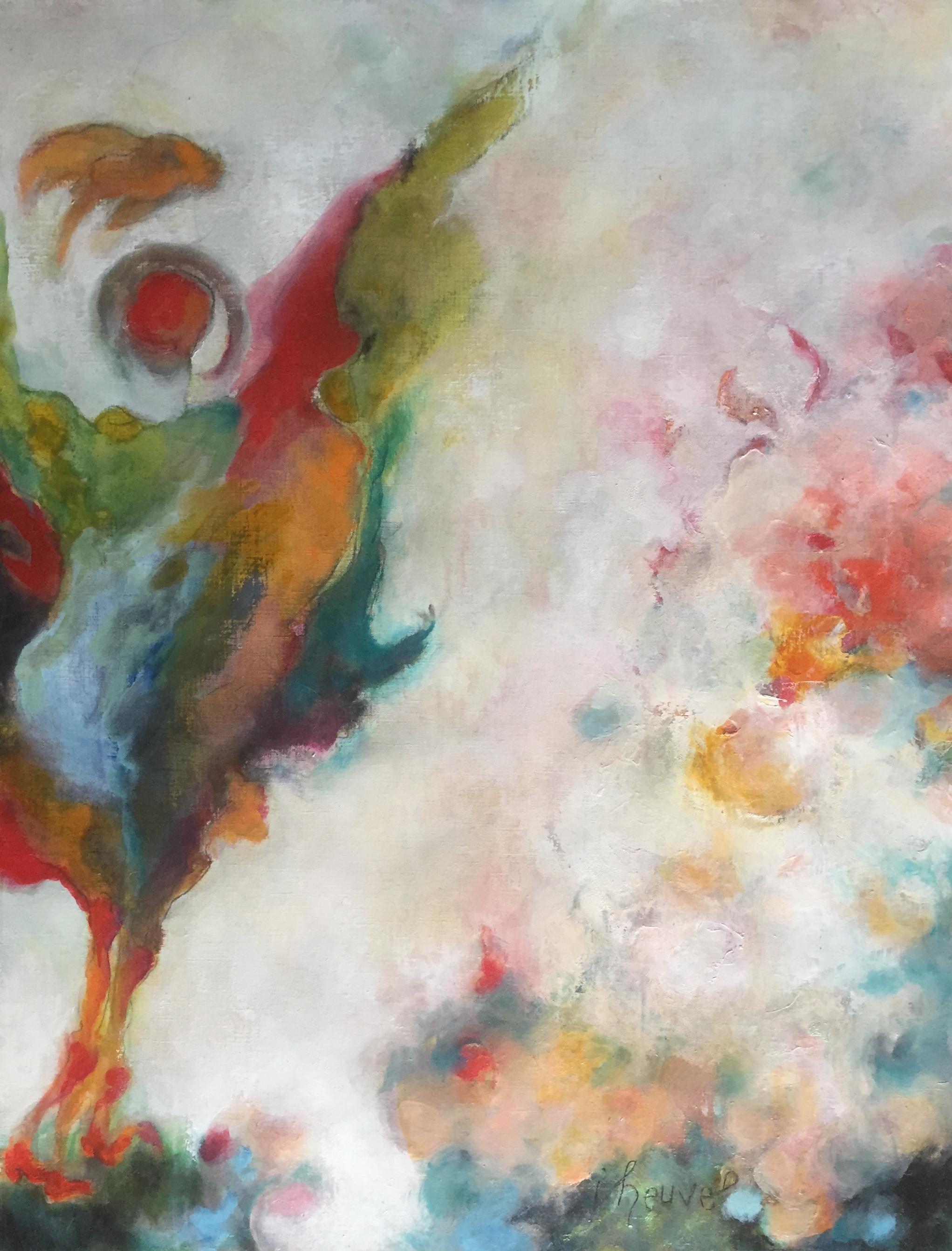 34 Bird * Houtskool, gouache en olie op papier | 65x50