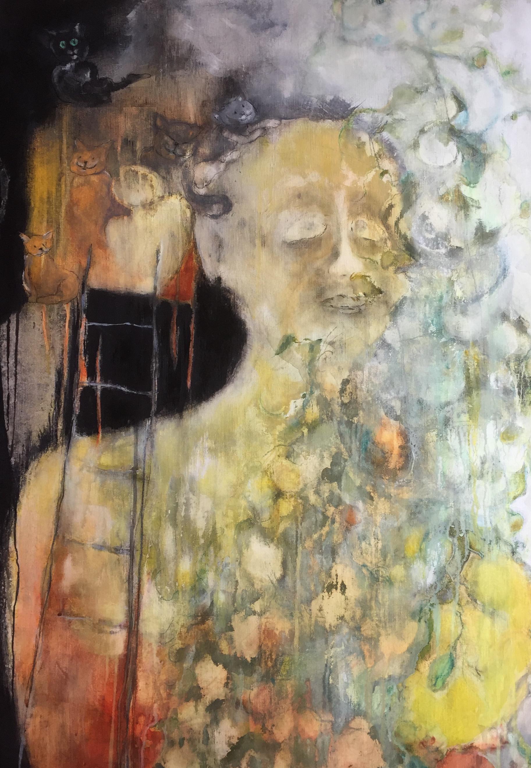 Het meisje op de hooizolder * tempera op linnen | 95x73